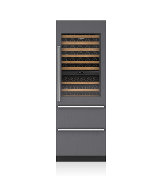 "Sub-Zero 30"" Integrated Wine Storage with Refrigerator/Freezer Drawers - Panel Ready IW-30CI"