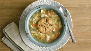 Sopa de Chicken Pot Pie